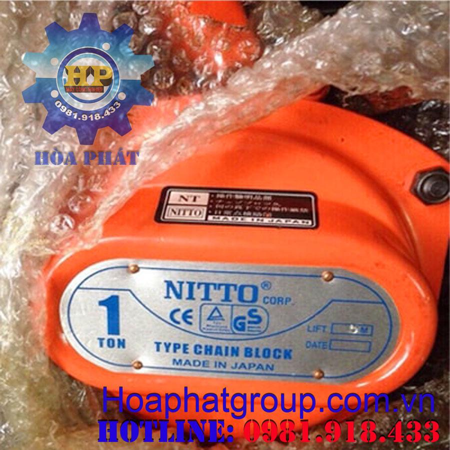 Pa lăng xích kéo tay Nitto 2 tấn 3 m