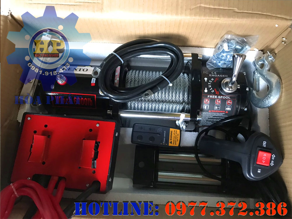 Máy tời điện 12V, 24V Kento KT6000LB